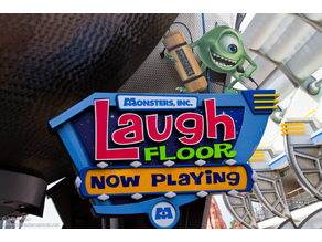 Monster's Inc. Laugh Floor Sign