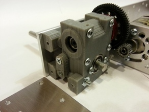 Tank updated Gear Cases for Kyosho RF006 worm gear set