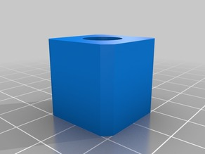 20mm calibration cube with hole, chamfer and radii