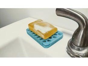 Draining soap dish for small bars