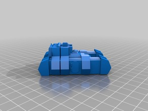 15mm Sci-Fi Alien Grav-APC Medivac-Secuirty-Police Variant with optional extra spaced armour.