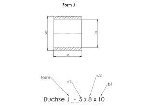 Bronze Bushing Form J *standard resolution*