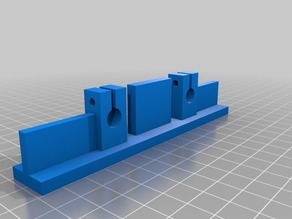 PrintrBot Simple X-Axis Bed Ends VER 2.0 for Upgrading Print Area