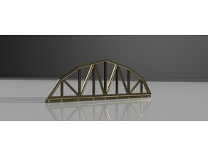 model railway G scale arched truss bridge