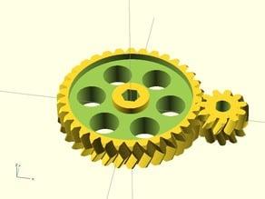 RepRap Pro Ormerod iamburnys Extruder Gears - Parametric - Double Helix - Herringbone