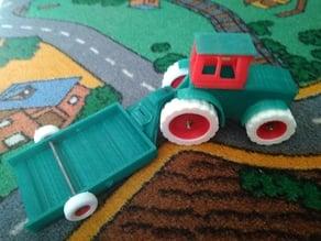 John Deere tractor & trailer Reinforced / Tractor Reforzado