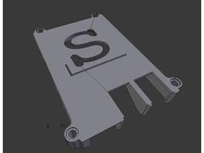Pi case with slackware and pi case with no logo