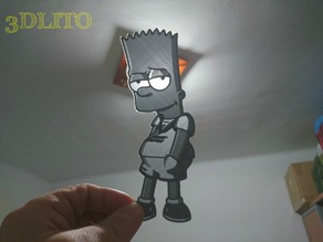 Litofania Bart simpson