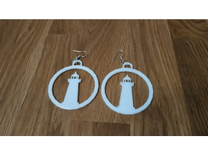 scrapbooking Lighthouse earrings (Remix)