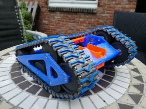 Reinforced tracks  + printable grooves