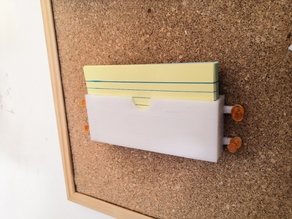 Flash Card Holder (thumbtack-able)