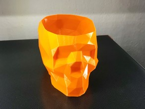 Low Poly Skull Vase Mode fixed nose