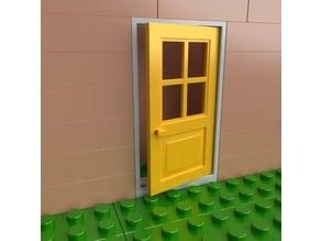 Lego compatible classical door 6x4