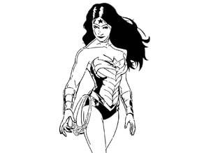 Wonder Woman stencil 3