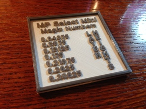 MP Select Mini Magic Numbers Plaque
