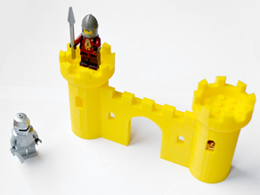 Castle Wall for LEGO Minifigs