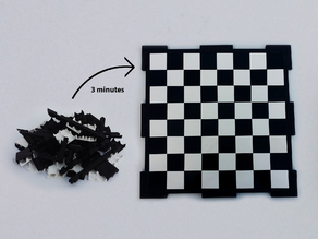 Glossy chessboard, easy to store.