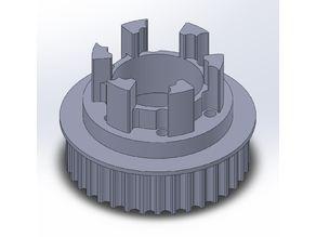 Longboard ABEC 11 Flywheels - Flywheel Clones - MBS All Terrain Wheels - CNC 36T Single Piece Pulley for 9mm, 12mm, 15mm Belts