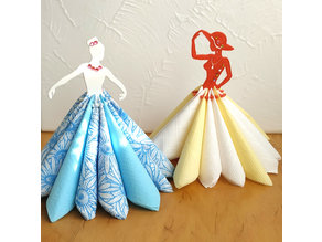 "Napkin holder ""Miss and ballerina"""