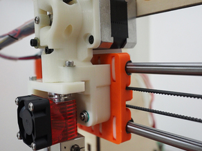 Unified Prusa i3 Extruder for Mk8 drive gear, e3d v6 hotend, and BLTouch sensor.