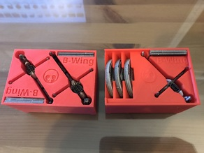 B-Wing x1 & x2 Holder (X-Wing Miniatures) for Stanley Organizer