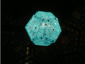Dodecahedron Shadow Lamp Printable