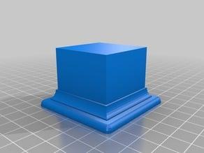 Mini display square plinth