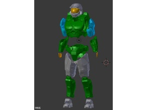 Halo 3 - Mark 6 - Master Chief Armor Set - No Helmet