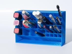Big lipstick and eyeliner holder / Makeup organizer
