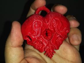 Skull Heart Pendant