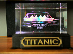 Illuminated Display Base for 3D Laser Engraved Acrylic Block
