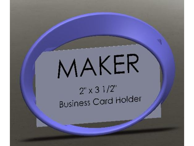 Elliptical Mobius Business Card Holder By Brink Effects Thingiverse