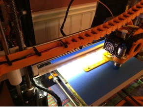 Anet A8 LED strip mount under X axis clip on remix