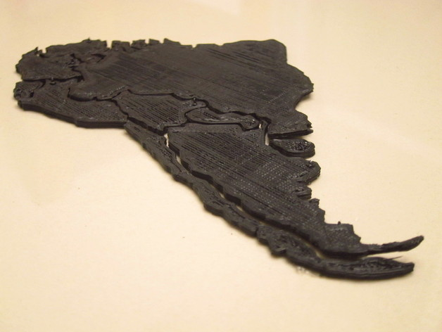 South America map puzzle by chapulina - Thingiverse