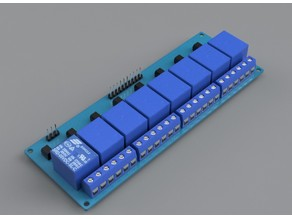 8-channel relay 5V module, FUSION 360, overall layout