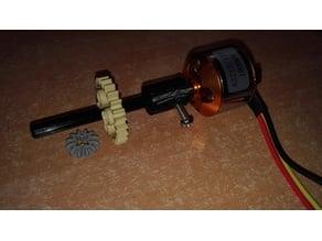 Brushless lego technic adapter