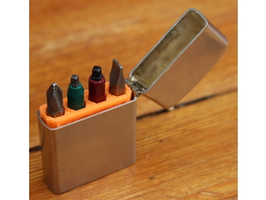 Insert for holding screwdriver bits in a lighter