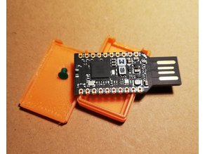 Case for NRF52840 dongle with reset button