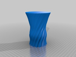 Curved Flower Vase (repaired)