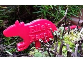 Rat Garden/Pot Sign