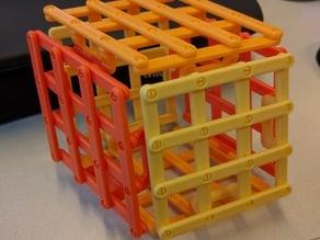 Folding fidget cube