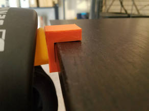 Headphone Holder bracket for 20mm thick desk [Modified for Ikea Galant]
