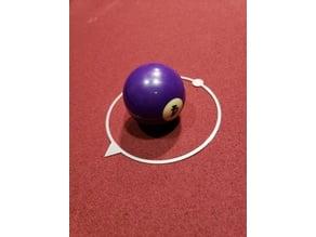 Billiards Cut Shot Trainer Ring