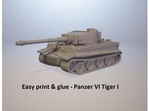 Easy print & glue - Tiger I