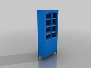 IKEA HEMNES Glass-door cabinet with 3 drawers.