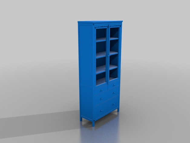 Ikea hemnes glass door cabinet with 3 drawers by yorchmur thingiverse planetlyrics Choice Image
