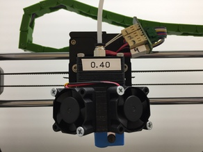 E3D V6 dual fan mount for Quick Fit Carriage System by BETLOG