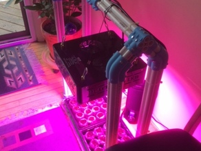Seed starting rig made from PVC pipe