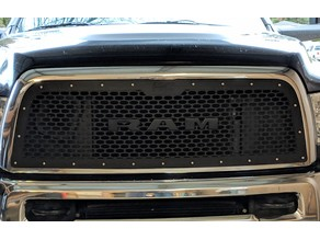 Dodge RAM Grille Nameplate / Letters (Mount)