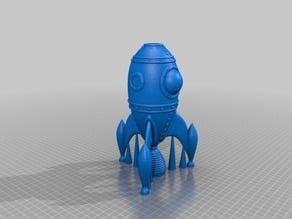 Remix of the gCreate Official Rocket Ship (Nozzle Fix)
